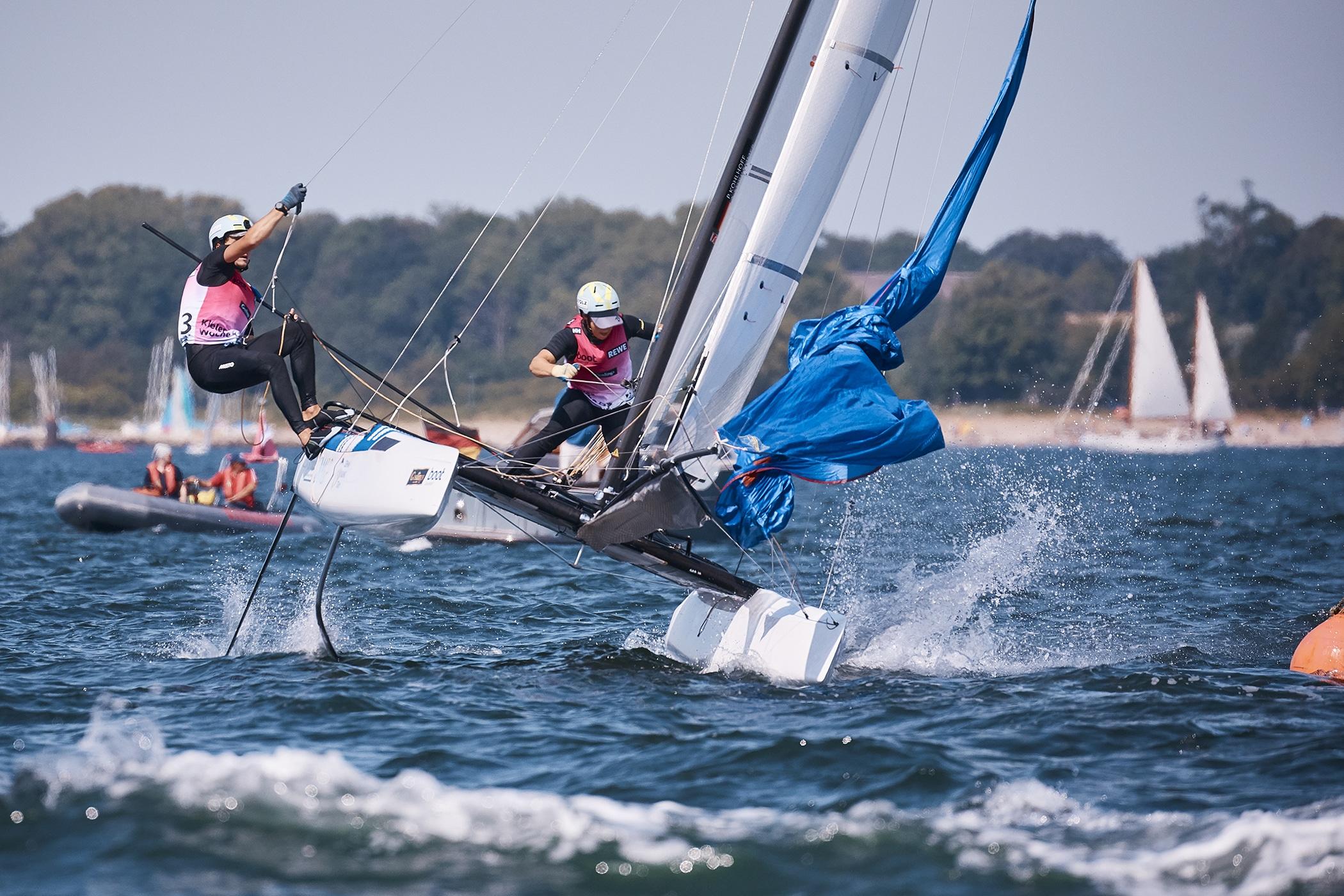 Alica Stuhlemmer und Paul Kohlhoff dominierten die Kieler Woche bis zum Medal Race. Foto: DSV/Felix Diemer