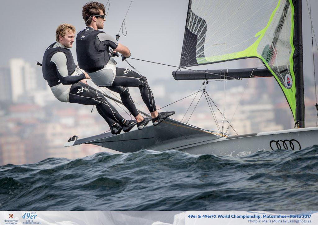 Justus Schmidt und Max Boehme erreichten Platz 5 bei der 49er-WM © Maria Muina I Sailingshots.es