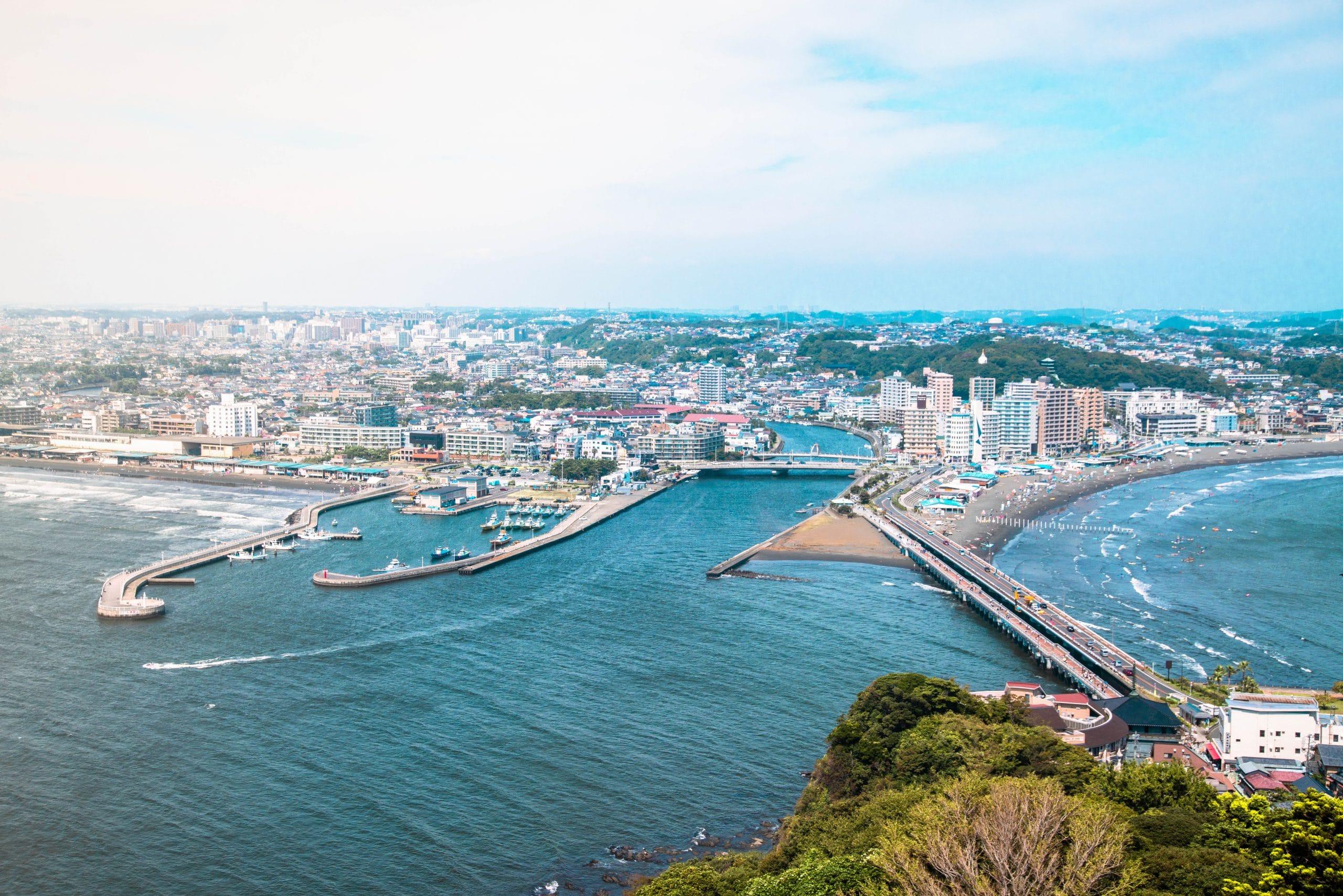 Blick auf das olympische Segelrevier Enoshima. Foto: Alex Smith