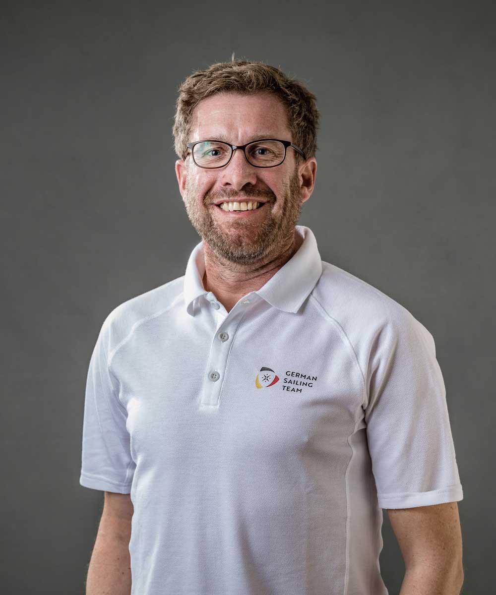 Hendrik Ismar, Bundesstützpunkttrainer in Kiel-Schilksee. Foto: German Sailing Team/Lars Wehrmann