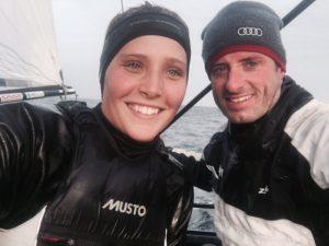 Carolina Werner und Johannes Polgar starten eine gemeinsame Olympiakampagne im Nacra 17. Foto: privat