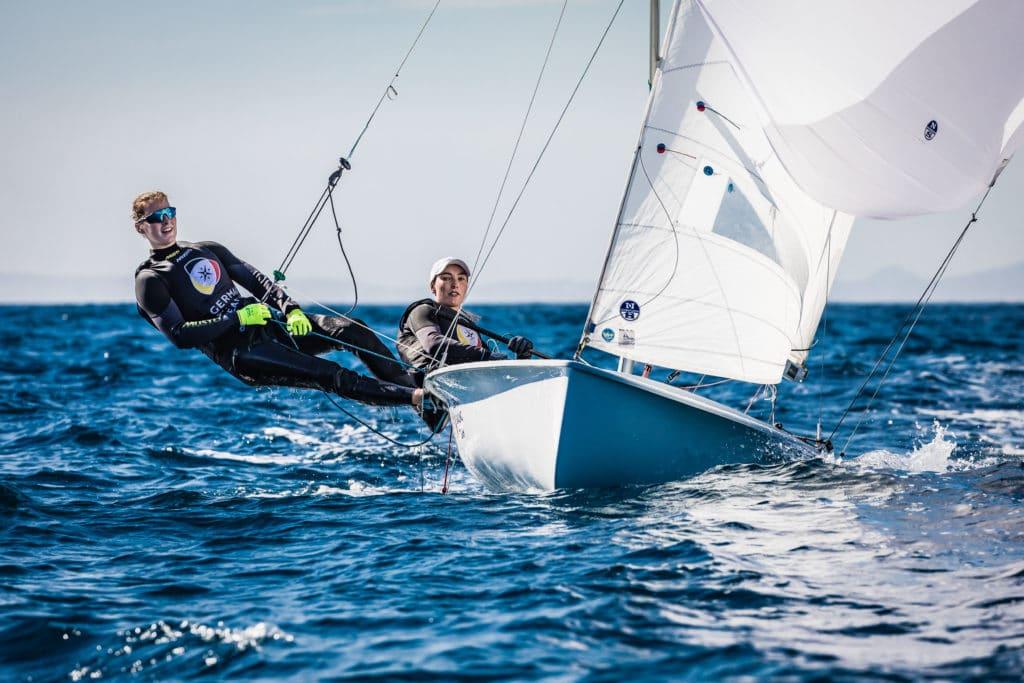 Frederike Loewe und Anna Markfort beim Training vor Mallorca. Foto: DSV/Lars Wehrmann
