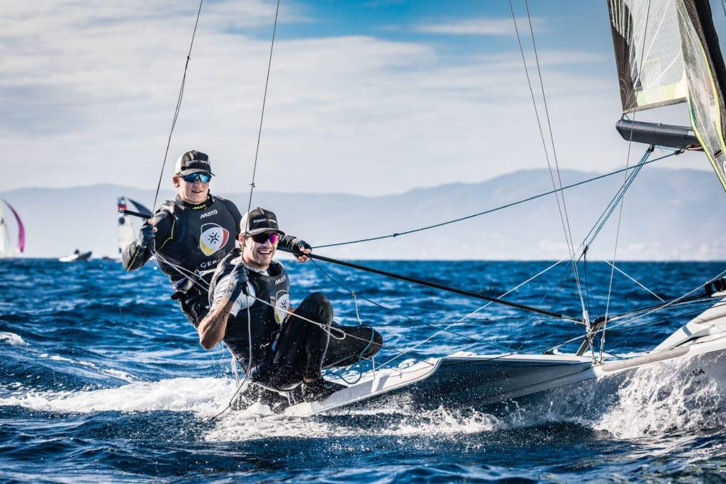 Ein Team seit 2006: Justus Schmidt und Max Boehme vom Kieler Yacht-Club. Foto: DSV/Lars Wehrmann