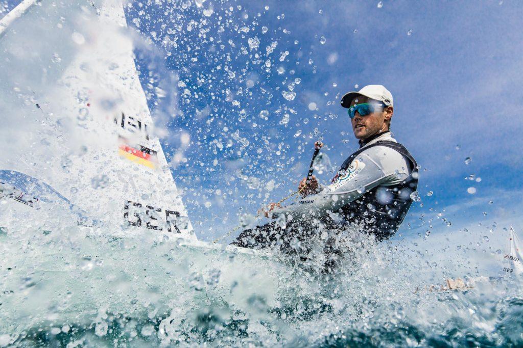 Der Laser bleibt auch 2024 olympisches Material. Foto: Lars Wehrmann/German Sailing Team
