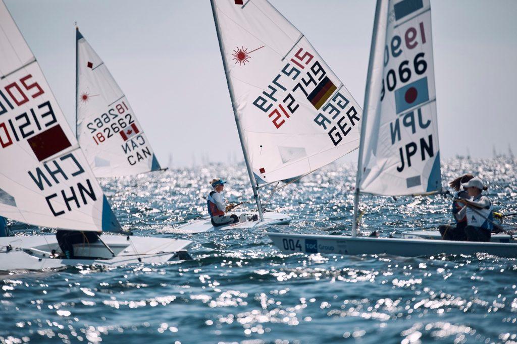Im zweiten Versuch schaffte Svenja Weger die Nationen-Qualifikation für ihre Bootsklasse Laser Radial. Foto: Felix Diemer