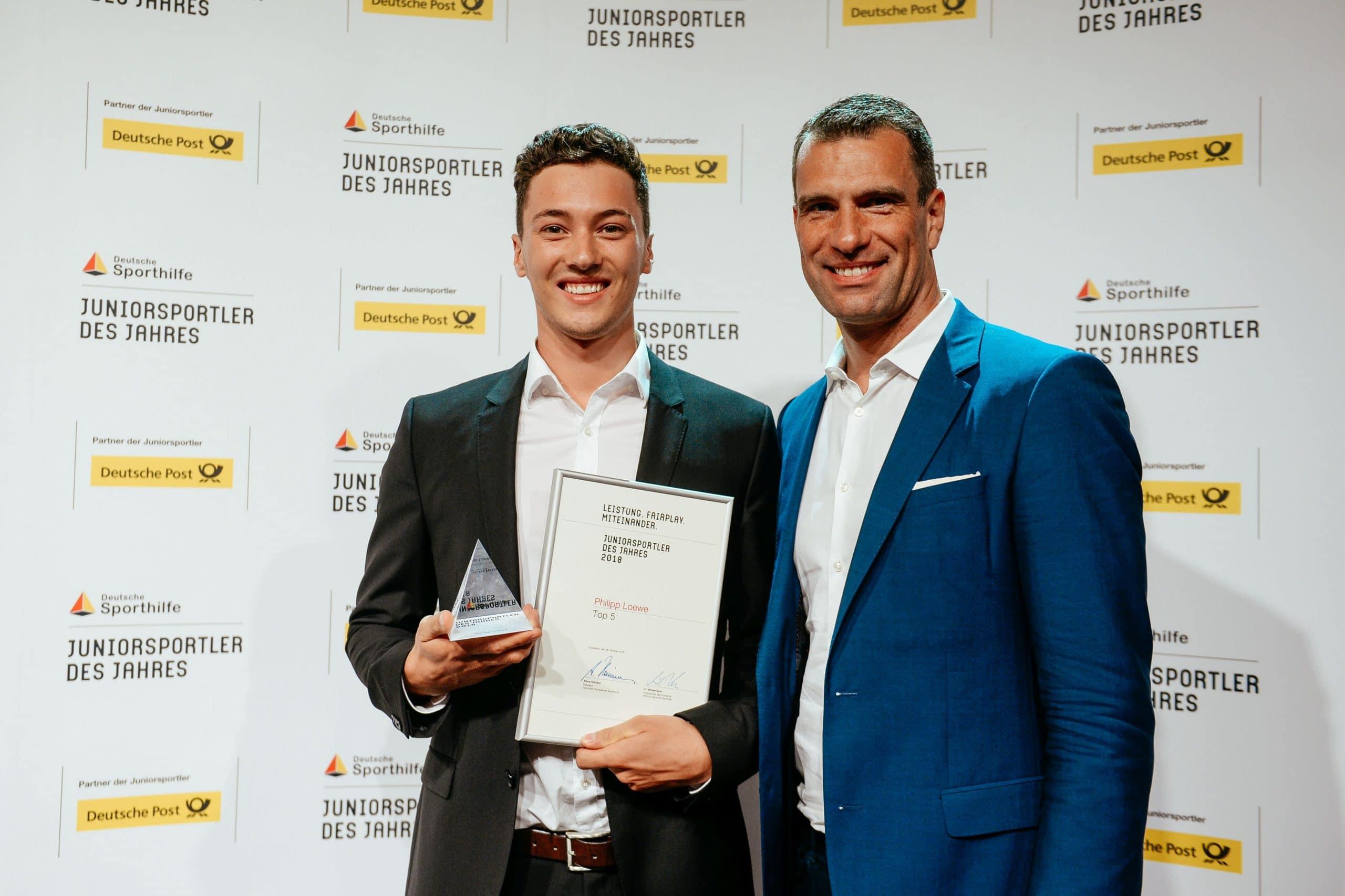 Für seinen Sieg bei der U21-WM war Philipp Loewe als Juniorsportler des Jahres nominiert. Foto: Sporthilfe