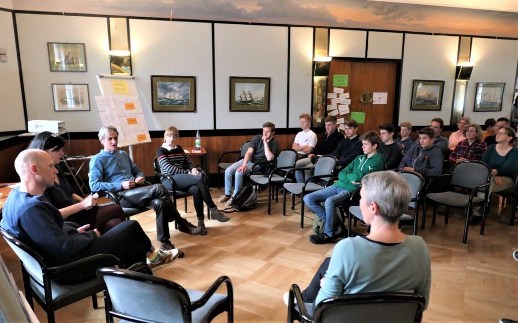 Diskussionsrunde beim Tag des Leistungssports