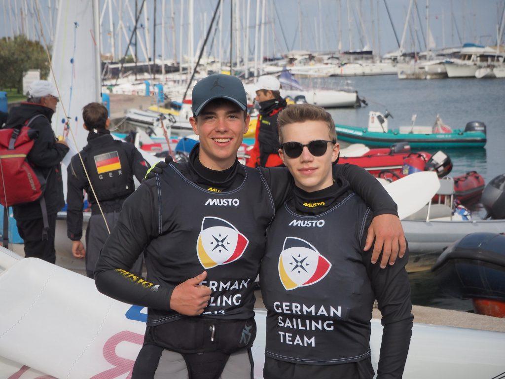 Bjarne Studt und Piet Strohm freuen sich über ihren Sieg in Izola. Bild: privat