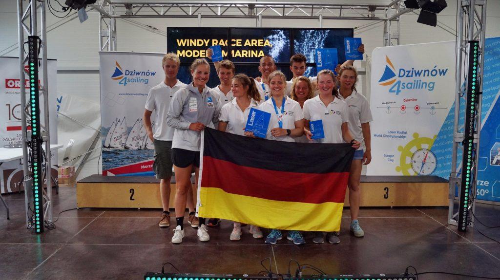 Team Deutschland bei der Laser U21-Europameisterschaft in Gdynia. Foto: Eurilca