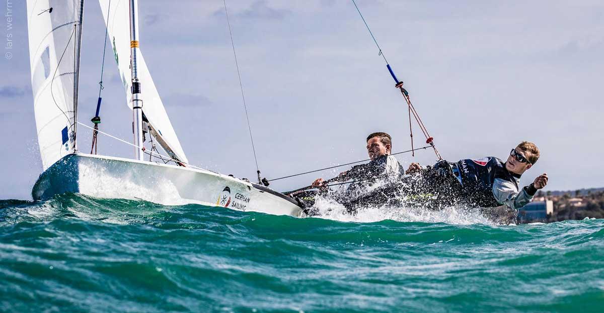 Malte Winkel und Matti Cipra beim Training vor Mallorca. Foto: Lars Wehrmann